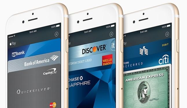 Móviles iPhone con el sistema de pago Apple Pay.