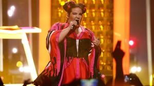 Netta en el escenario de Eurovisión 2018.