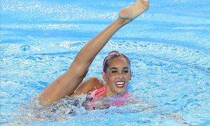Ona Carbonell, durante un ejercicio.
