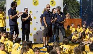 Pep Guardiola, en un momento del acto de la Fundación Cruyff