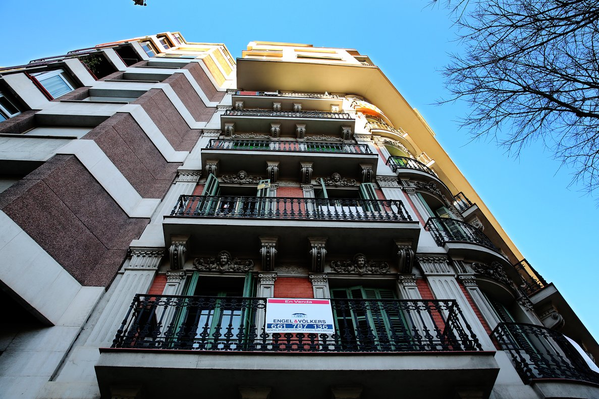 Imagen de archivo de pisos en alquiler en Barcelona