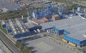 Planta de producción de BlueSun en Mataró, antigua sede de Procter & Gamble