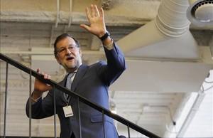 El presidente del Gobierno, Mariano Rajoy, en un acto oficial en Madrid, el pasado 8 de marzo.