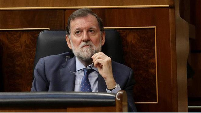 Rajoy considera la sentencia de Gürtel una reparación moral. En la foto, Mariano Rajoy, cuando era presidente del Gobierno, en el Congreso.