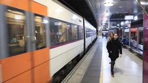 Estación de Rodalies de plaza de Catalunya, en Barcelona.