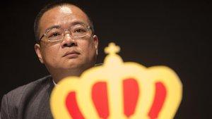 Chen Yansheng, en una junta de accionistas del Espanyol.