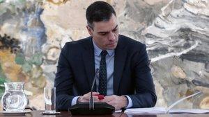 El presidente del Gobierno, Pedro Sánchez, preside la reunión del Comité Técnico de Gestión del COVID-19 en el día 37 del estado de alarma.