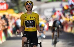 Geraint Thomas triunfa en Alpe d'Huez.