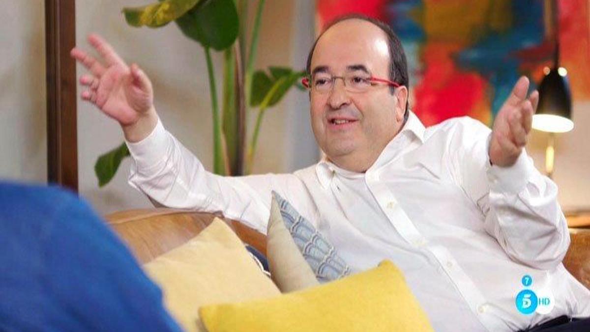 Miquel Iceta, con Bertín Osborne, en Mi casa es la tuya (Tele5).