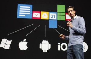 Sundar Pichai, vicepresidente de Google Chrome, durante el Google I/O Developer.