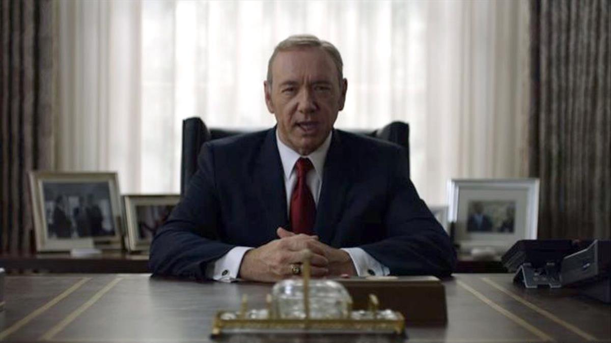 Kevin Spacey, en la serie de Netflix 'House of cards'.