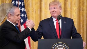 Trump y Netanyahu en la Casa Blanca el pasado martes, tras presentar el plan de paz.