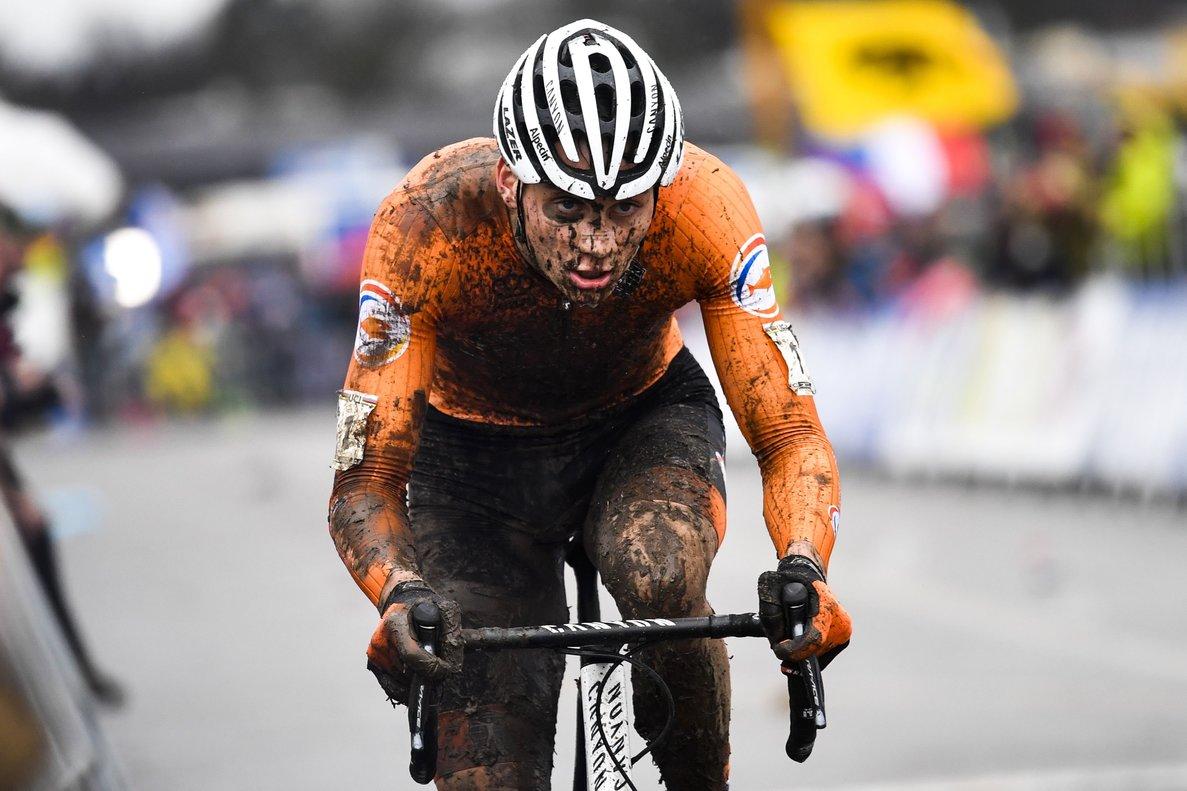 Duebendorf (Switzerland) 02 02 2020 - Mathieu van der Poel of the Netherlands in action during the men s elite Cyclocross World-Championships in Duebendorf Switzerland 02 February 2020 (Paises Bajos Holanda Suiza) EFE EPA GIAN EHRENZELLER