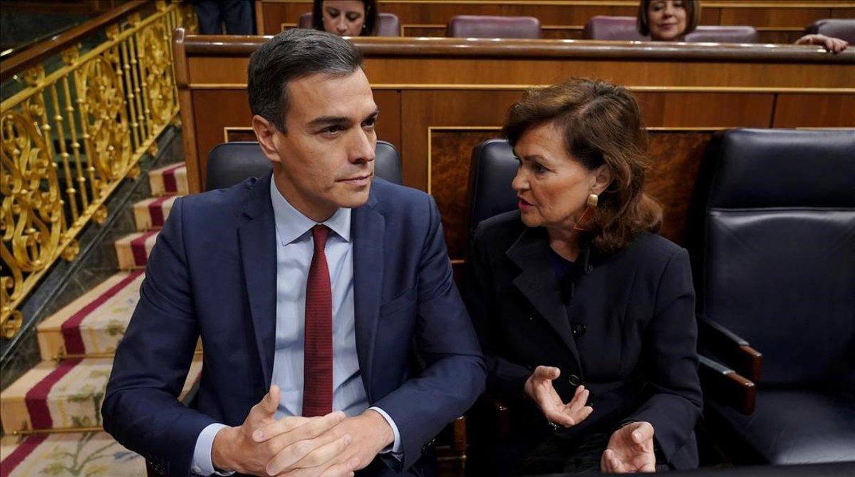 Sánchez y Calvo, el pasado miércoles en el Congreso de los Diputados.
