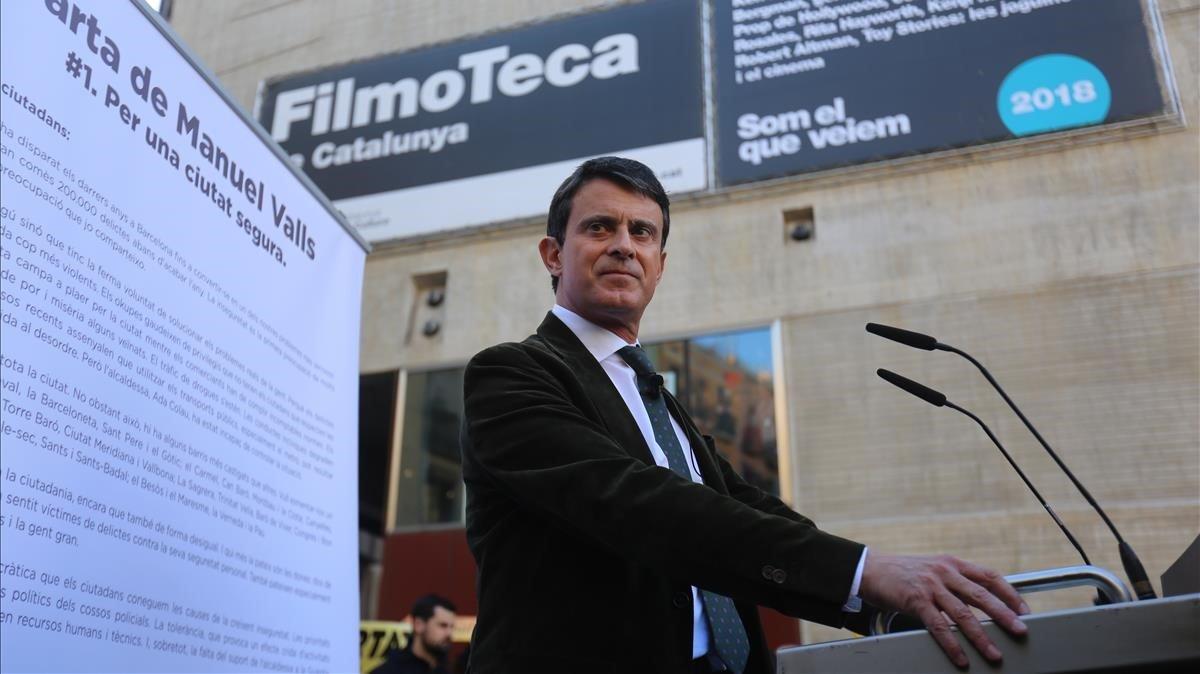 Valls pide un pacto de país contra Vox, y a Cs que no ceda.