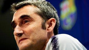Valverde, en la rueda de prensa previa a la visita al Alavés.