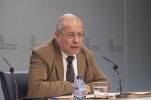 El vicepresidente de la Junta de Castilla y León, Francisco Igea, en una rueda de prensa posterior al Consejo de Gobierno.