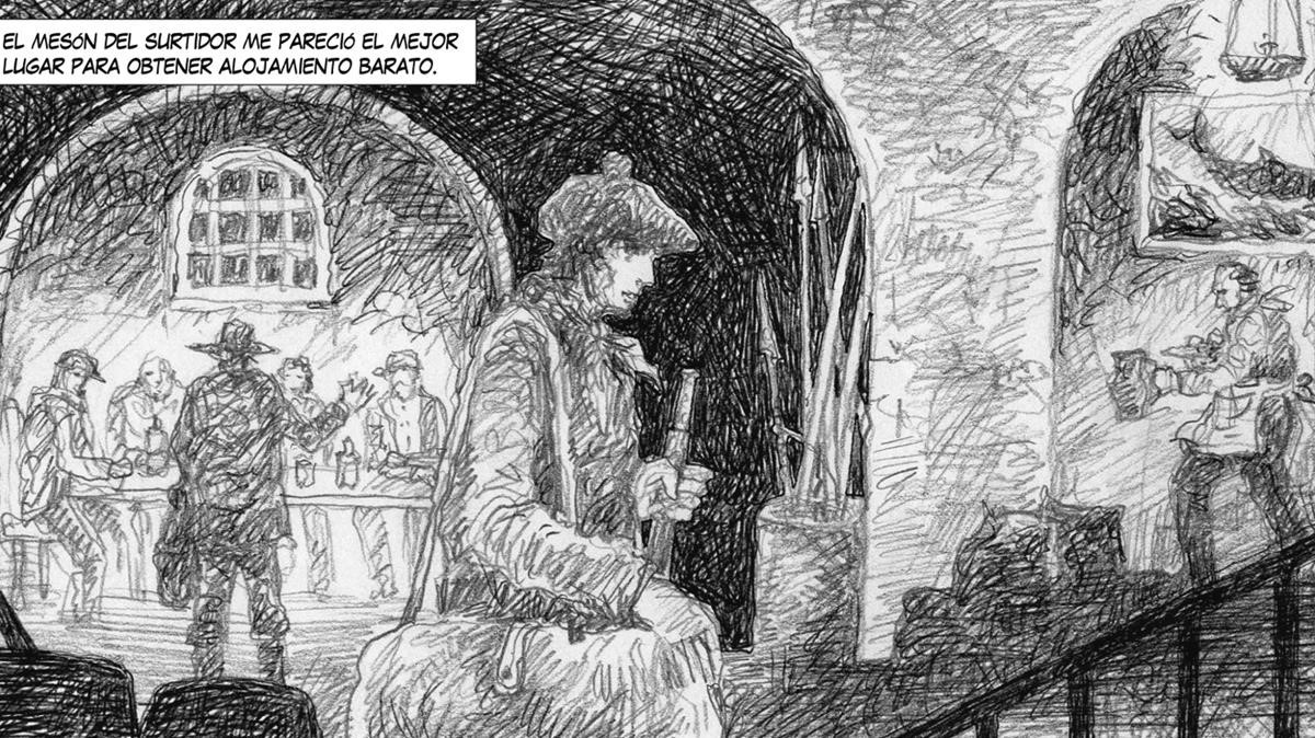 Viñetadel cómic 'Moby Dick', de José Ramón Sánchez.