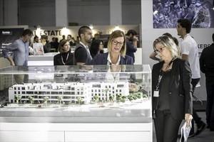 Visitantes en el salón del Barcelona Meeting Point en ediciones anteriores.