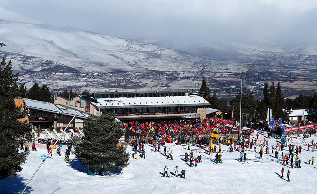 Vista de la zona inferior de Masella, una de las estaciones de esquí con la que trabaja Skibeta.