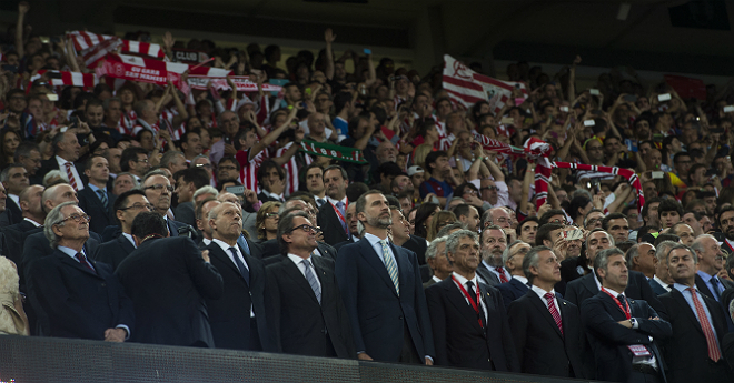 La xiulada de l'himne a la final de la Copa del Rei.