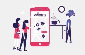 """Yoomers, la plataforma colaborativa que llega con el objetivo deque sus usuarios se sientan y coman """"como en casa""""."""