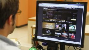 Página web de la casa de apuestas por internet Bwin.