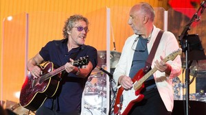 Roger Daltrey y Pete Townshend, de The Who, en el 2015.