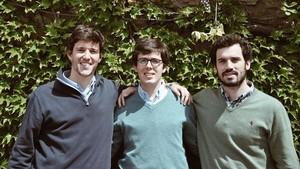 De izquierda a derecha, los fundadores de Refruiting: Felipe Ojeda,Ramon Casals y Fernando Oriol.