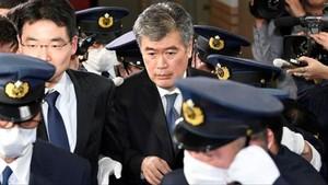 El exviceministro de Finanzas japonés Junichi Fukuda, que tuvo que dimitir tras ser acusado de acoso sexual.