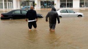 Inundación en Xàbia, Alicante.