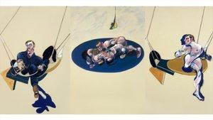 Tríptico de 1970 de Francis Bacon expuesto en el Centro Pompidou.