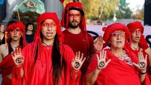Els ecologistes aixequen l'acampada climàtica de Madrid