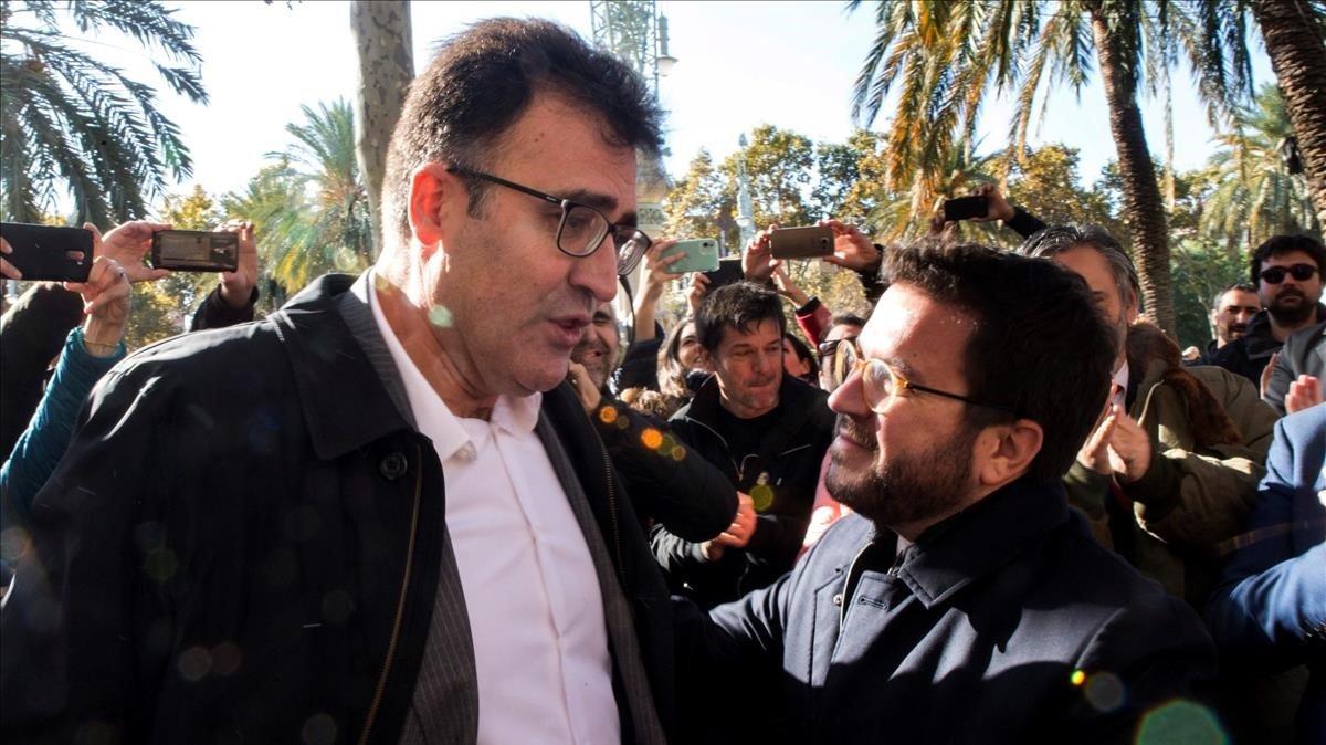 Lluís Salvadó y Pere Aragonès.