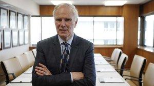 Philip Alston, relator de la ONU de pobreza,fotografiado el pasado viernes 7 de febrero en Madrid.