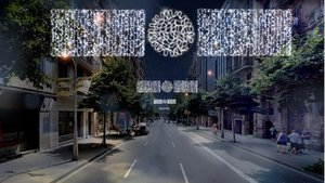 Simulación de las luces de Navidad en las calles de Barcelona.
