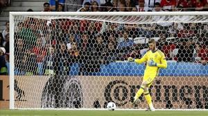 De Gea, durante el encuentro entre España y Turquía de la Eurocopa de Francia