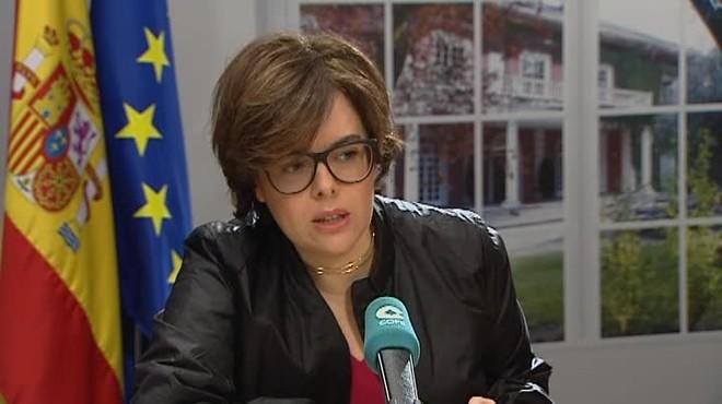 Sáenz de Santamaría: Puigdemont ha arribat al final del trajecte i no serà president de la Generalitat