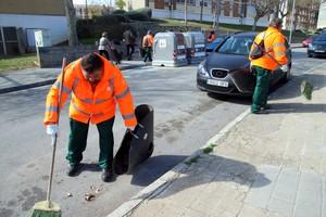 Trabajadores del espacio público de Sant Boi.