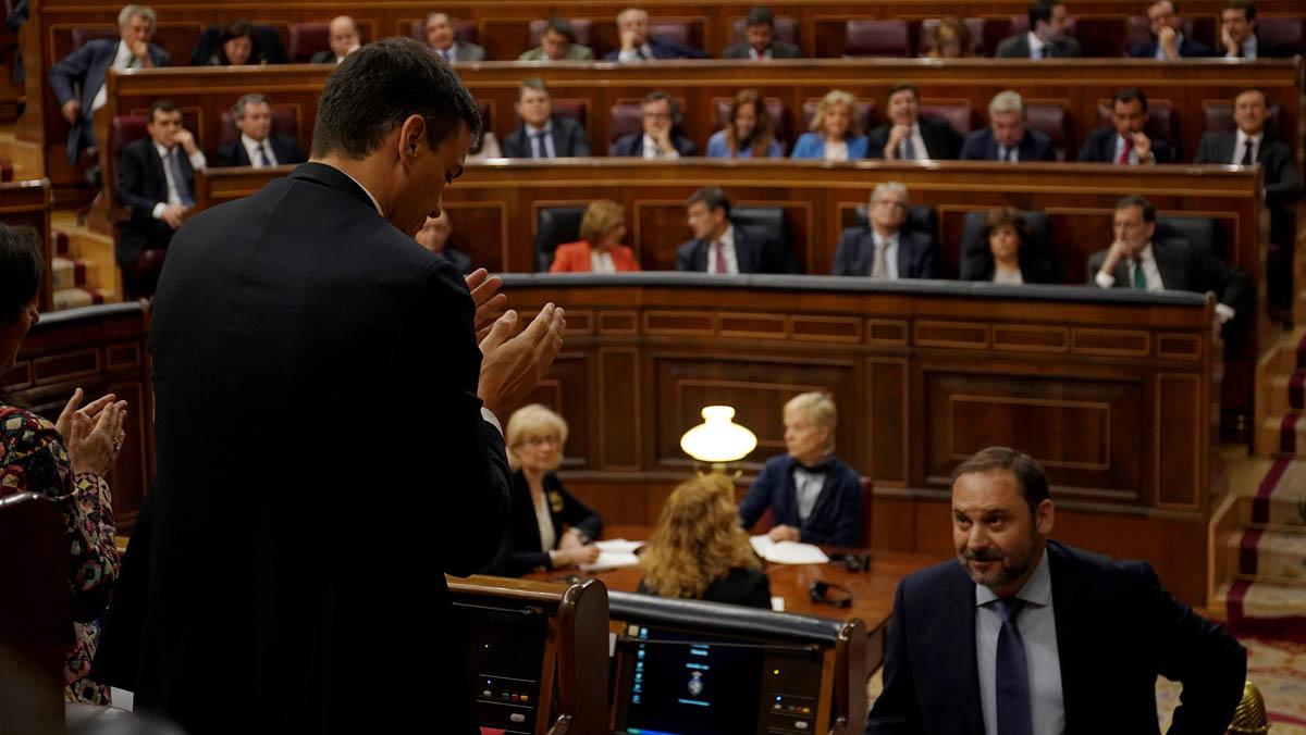 Ábalos arranca la defensa de la moción de censura recordando la sentencia de Gürtel.
