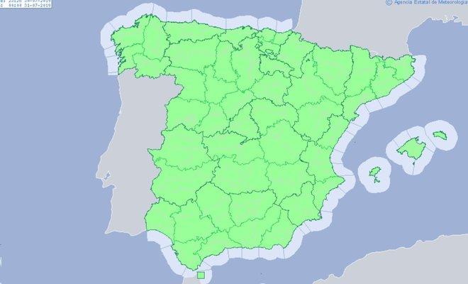 Temperaturas diurnas en ascenso, salvo en Galicia, sur de Andalucía y en Canarias, donde permanecerán sin cambios.