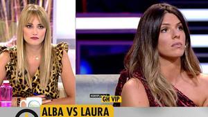 Alba Carrillo y Laura Matamoros.