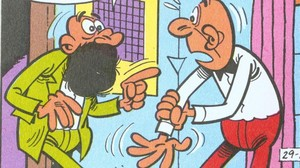 El profesor Bascterio y Filemón.