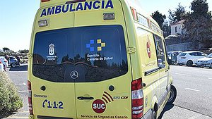 Ambulancia del Servicio de Emergencias de Canarias.