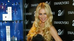 Anna Kournikova, en la inauguración de una tienda de Swarovski en el Portal del Angel, en Barcelona.