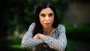 Antonella Lattanzi, la pasada semana, en el patio del Instituto Italiano de Barcelona.