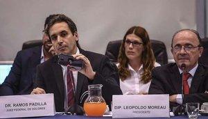 El juez aregtinoAlejo Ramos Padilla, presentado pruebas de la red de espionaje.
