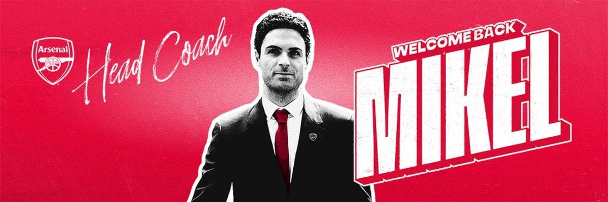 El anuncio del Arsenal para recibir a Mikel Arteta.