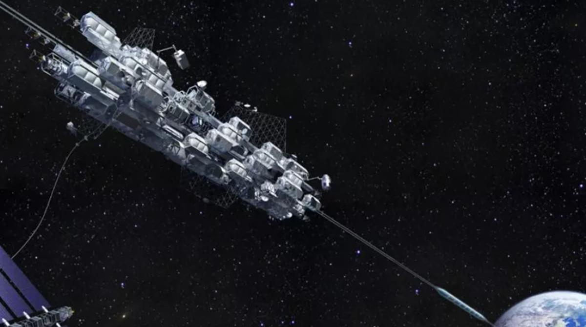 Reconstrucción del proyecto de ascensor espacial.