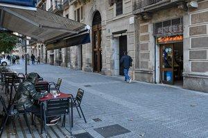 Bar Cosmopolita, en el paseo de Sant Joan.